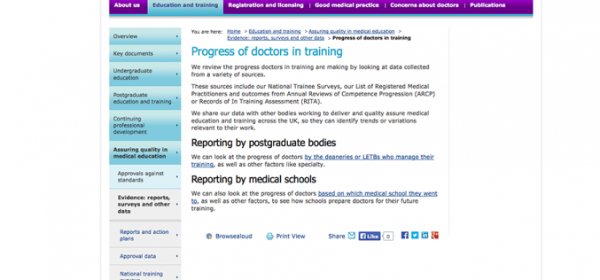 New GMC report highlights factors that affect progression of doctors in training