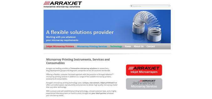 Arrayjet wins contract with Reproductive Health Science (RHS)