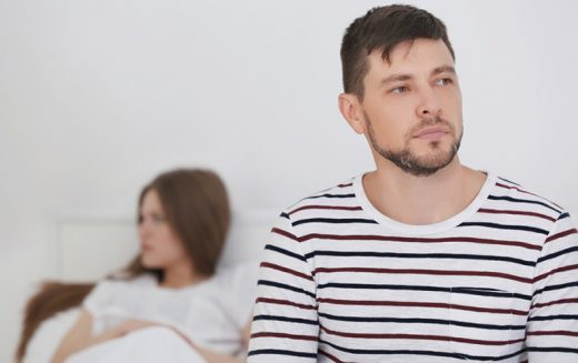 Men can show signs of depression when their partners are pregnant