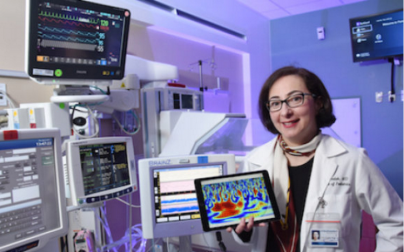 Weather-forecast tool adapted to evaluate brain health of oxygen-deprived newborns