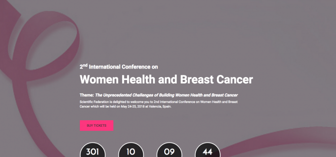 24–26 May 2018; Second international conference on  women's health and breast cancer; Spain