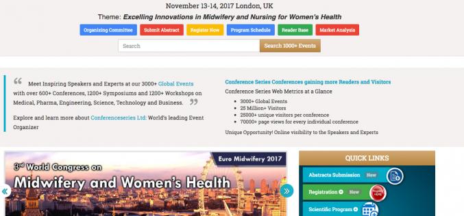 13–14 November 2017 – Euro Midwifery and Women's Health 2017 Congress; London