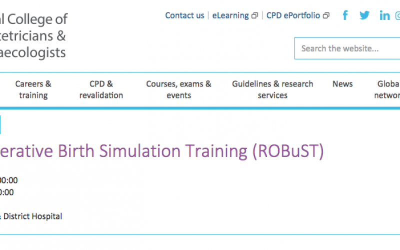 5 July 2018, RCOG Operative Birth Simulation Training (ROBuST); Chorley