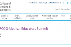 18-19 October 2018, Faculty of RCOG Medical Educators Summit; London
