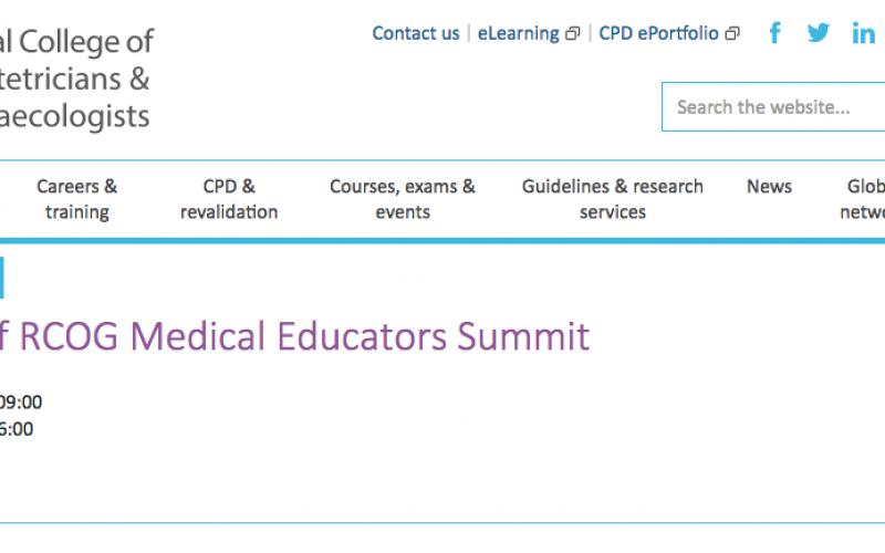 18-19 October 2018, Faculty of RCOG Medical Educators Summit; London