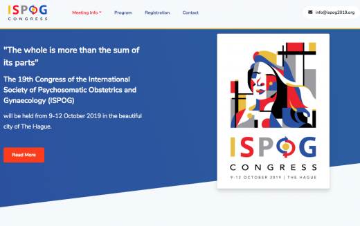 9-12 October 2019, 19th Congress of the International Society of Psychosomatic Obstetrics and Gynaecology, The Hague