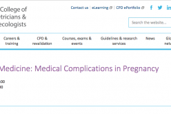 7-8 March 2019, Maternal Medicine: Medical Complications in Pregnancy; London