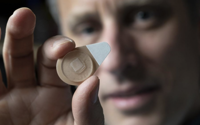 Long-acting contraceptive designed to be self-administered via microneedle patch