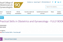 3 December 2019, Basic Practical Skills in Obstetrics and Gynaecology; Birmingham