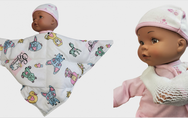 Wing Sling and Calming Cuddle Blanket available from CMS