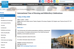15 May 2020, International year of nursing and midwifery celebrations; Kingston – POSTPONED
