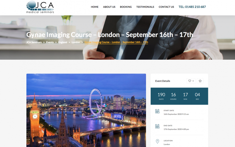 16-17 September 2020, Gynae Imaging Course; London