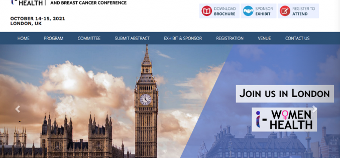 October 14-15 2021, 2nd International Women's Health and Breast Cancer Conference, London