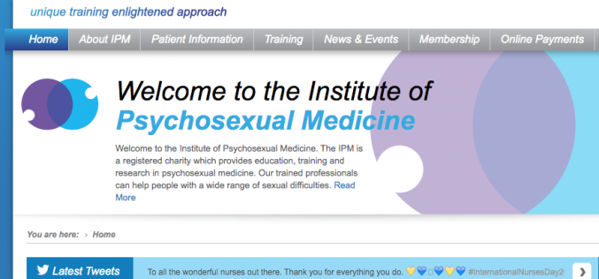 The Institute of Psychosexual Medicine to welcome midwives as members for the first time